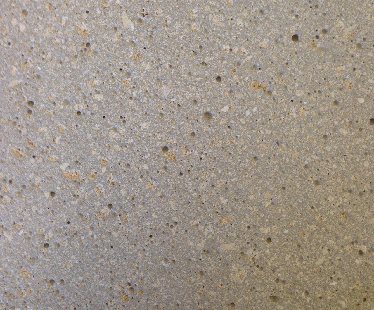 Grauzement mit Sandstein, Struktur geschliffen