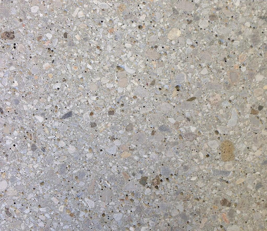 Graubeton feine Steine, Struktur geschliffen