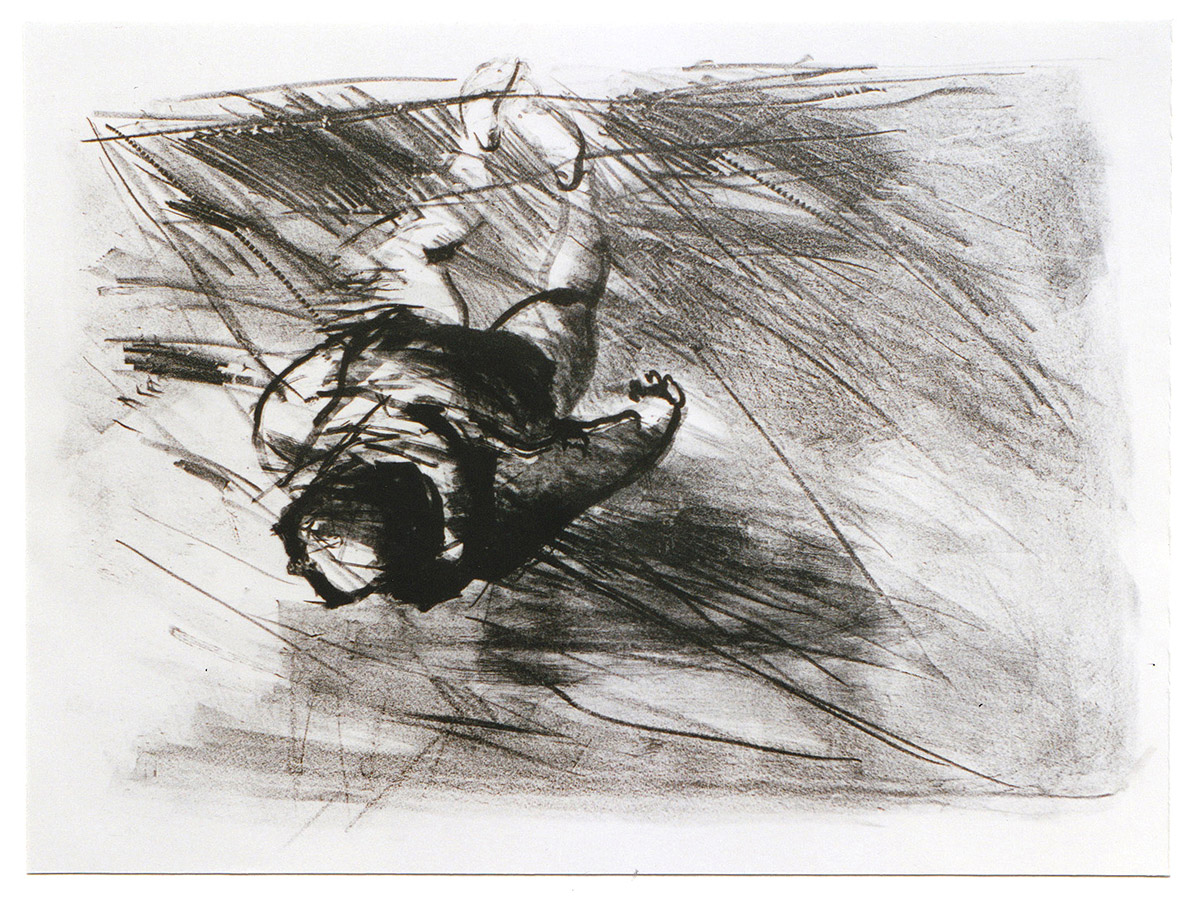 """Lithographie """"Schwimmer I"""", Format 53 x 76 cm"""