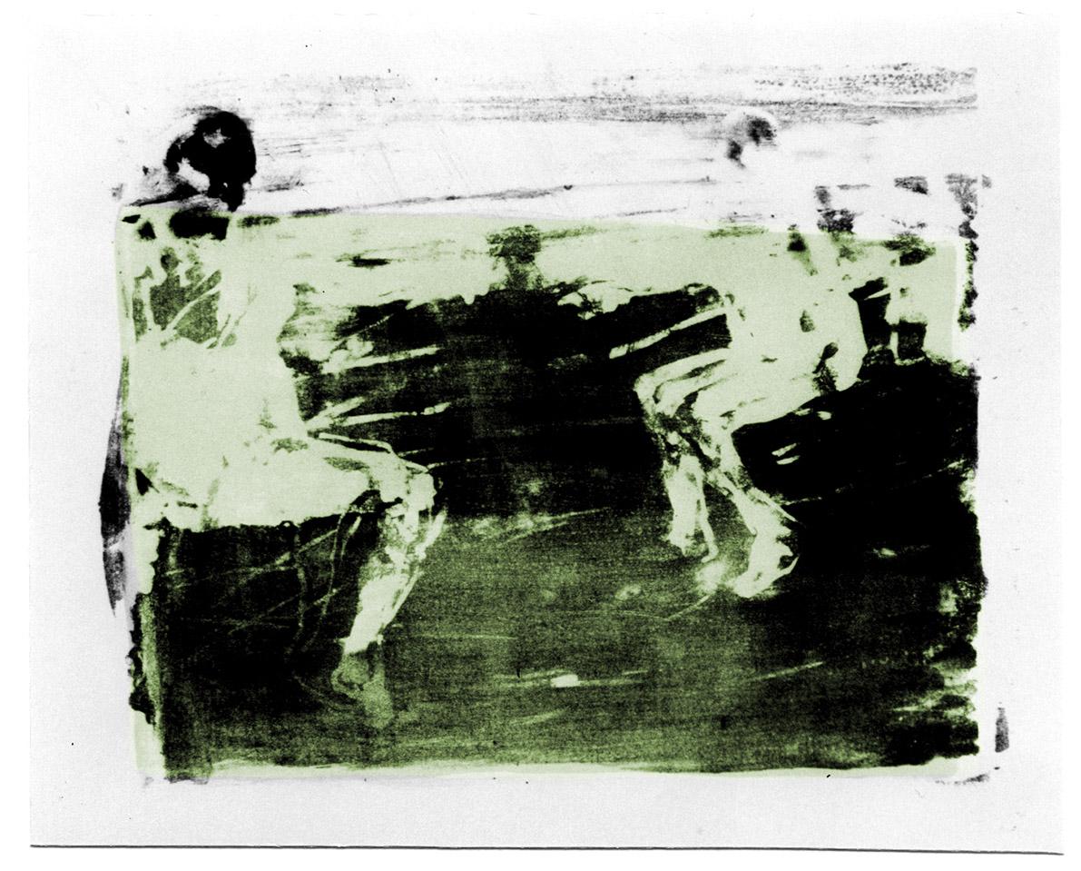 "Lithographie ""Schwimmer IV"", Format 38,5 x 53 cm"