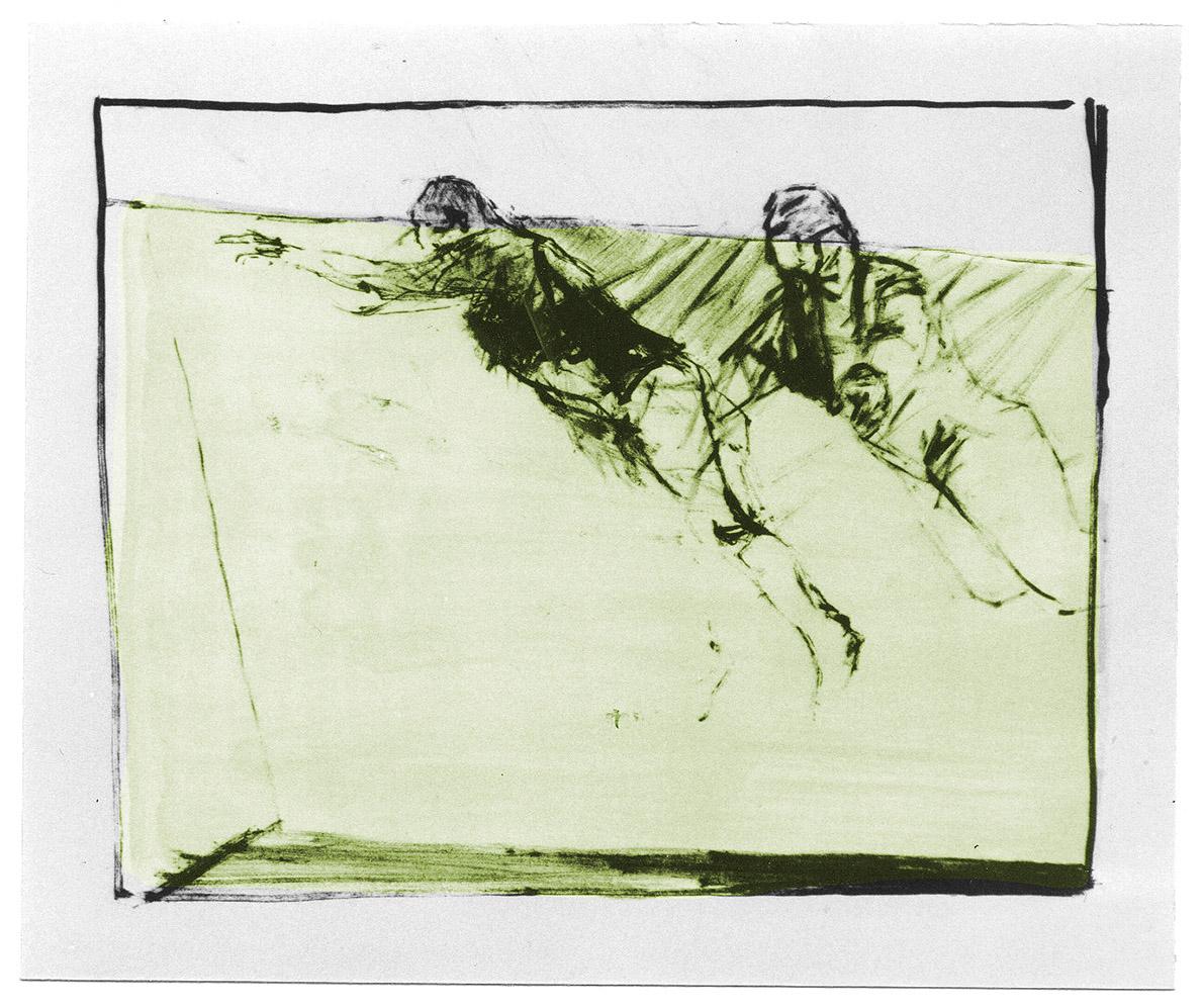 "Lithographie ""Schwimmer V"", Format 38,5 x 53 cm"