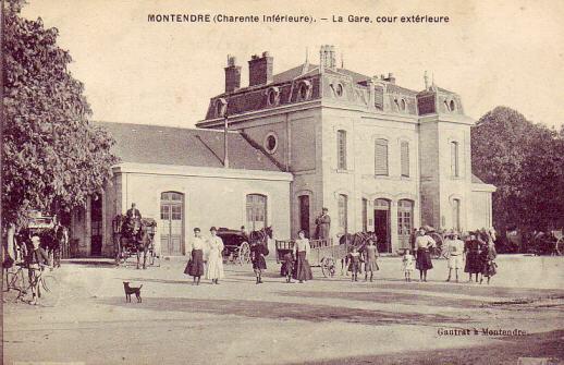 La gare au début du XX siècle
