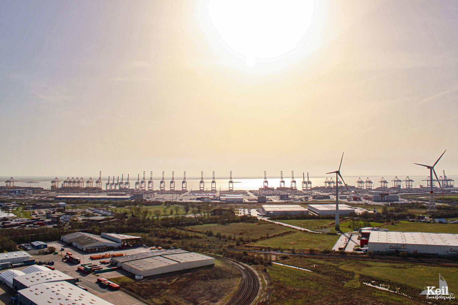 Aussicht von einer Windkraftanlage