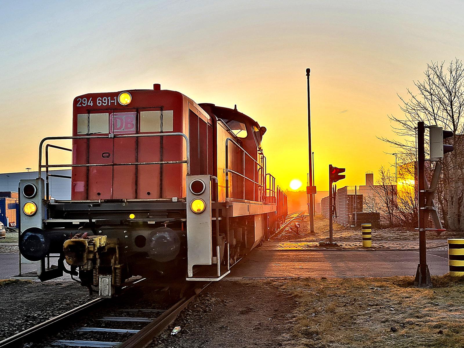 Wenn morgens im Hafen die Sonne aufgeht.