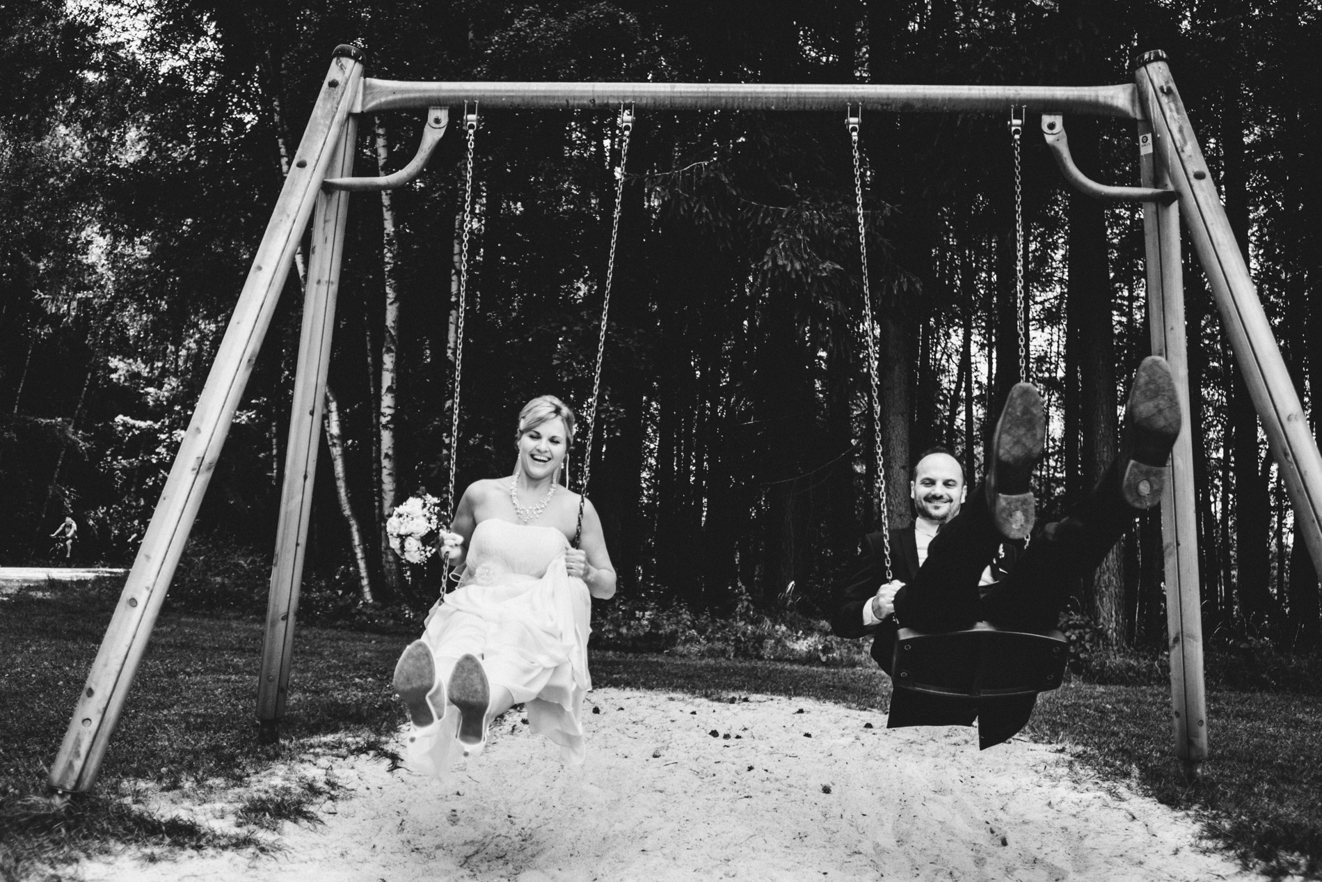 Schaukel Hochzeitspaar
