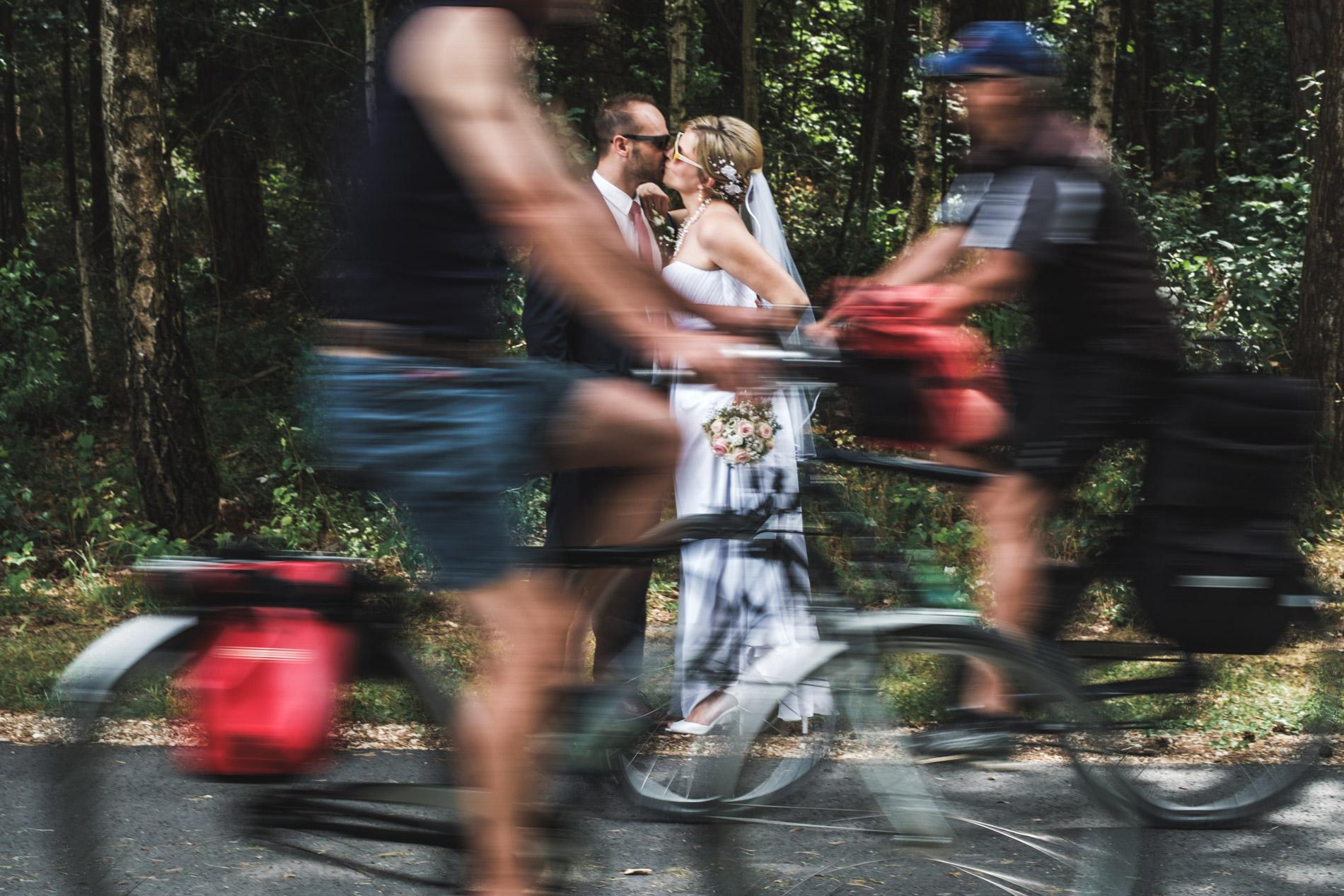 Fahrrad Portrait Hochzeitsfoto