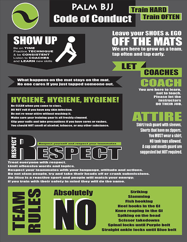 Team Rules And Code Of Conduct Palm Bjj