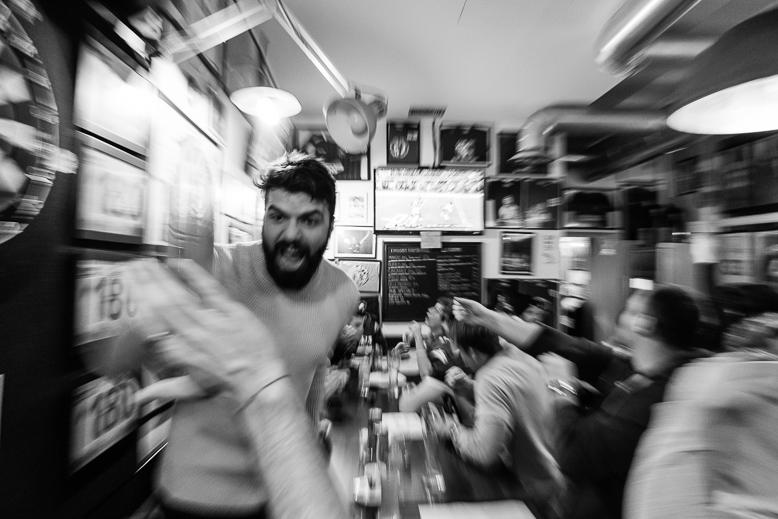 La LII edizione del SuperBowl vista al pub Mind The Gap con la squadra di football americano dei Rams Milano. 817.334 © 2018 Alessandro Tintori