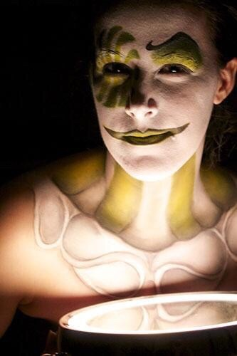 Esempio di maschera per lo shooting in tema Halloween durante lo stage