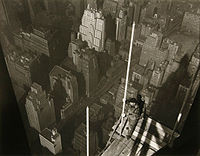 Raising the Mast, Empire State Building, 1932.