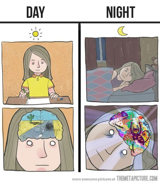 Day Night Overthinking Tag Nacht zu viel denken nicht schlafen können Depression verdrehte Welt