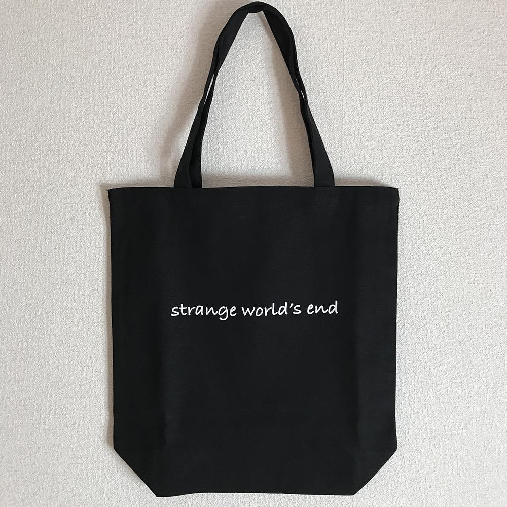 【NEW GOODS④】  strange world's end ロゴ トートバッグ color / ブラック  ¥1,800