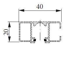Typ 7 - Schwere Schiene 40 x 20