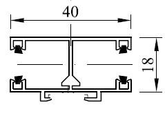 Typ 2 - Abstandsmontage Mittelschiene
