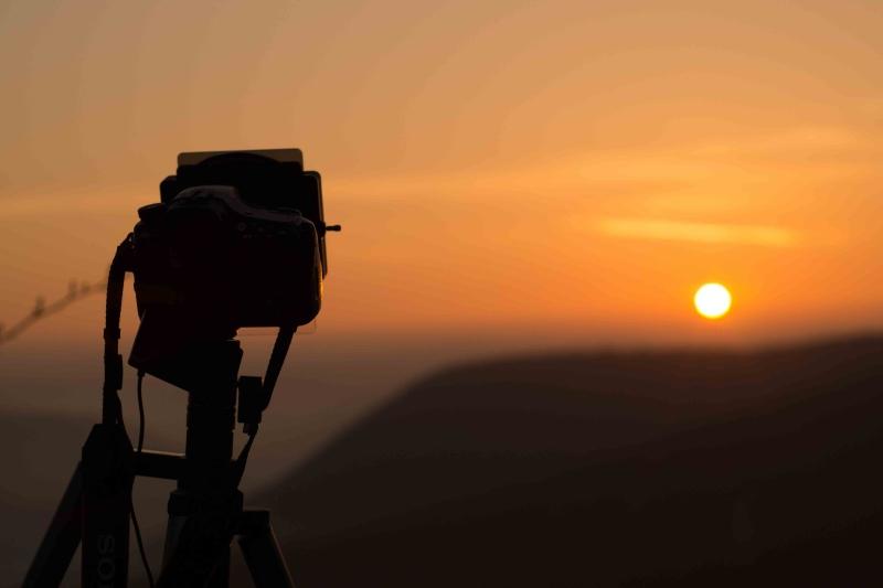 Sony a 57 mit  Verlaufsfilter beim Sonnenuntergang fotografieren