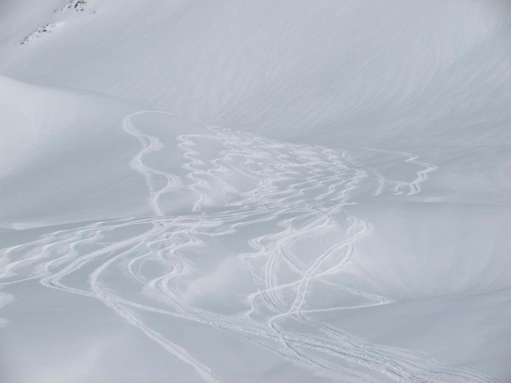 De belle traces, conditions idéales également pour le skieurs de rando !