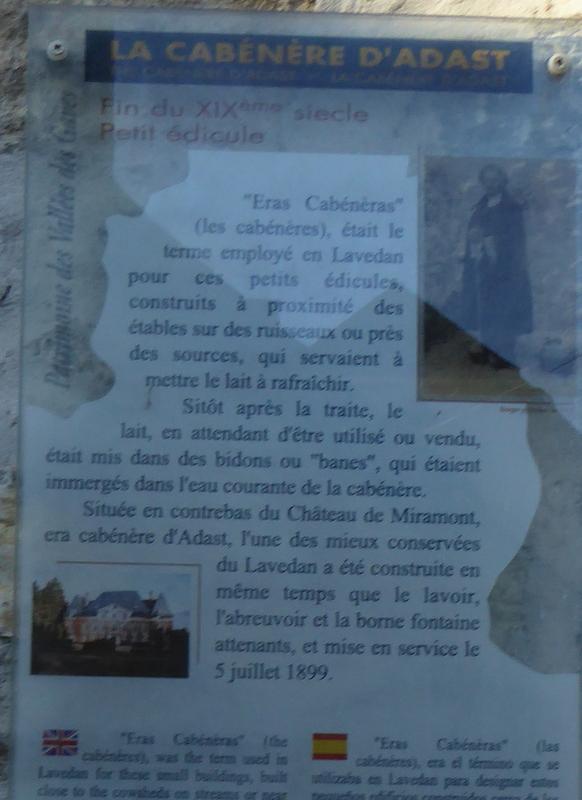 Quelques infos sur le patrimoine local du petit village d'Adast