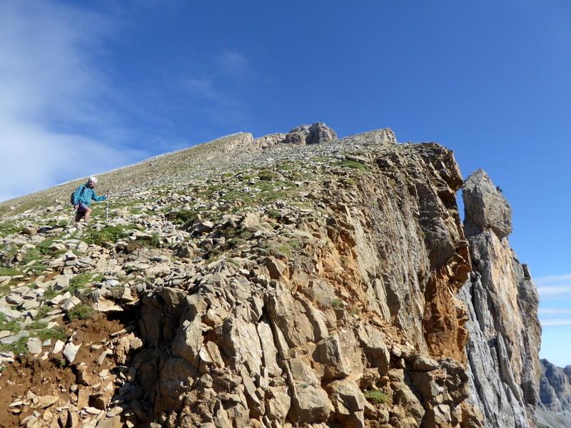 Les derniers mètres  vers le sommet