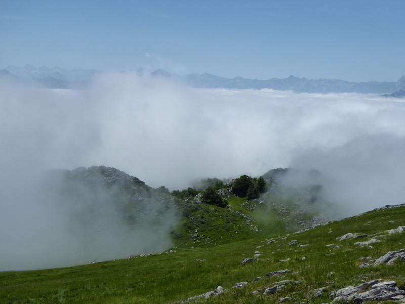 face aux sommets comme le Pic d'Aspe, le Visaurin,..