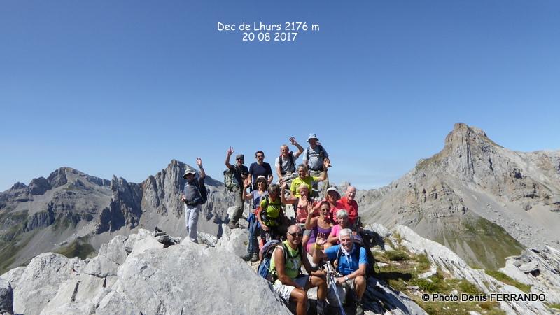 15 personnes au sommet dont la doyenne du club !!!