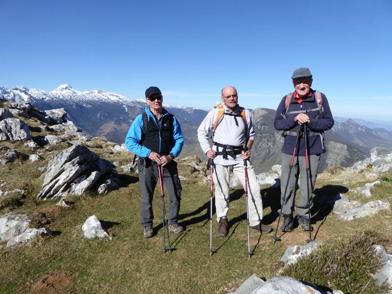 Au sommet du pic de Teulère 1565 m