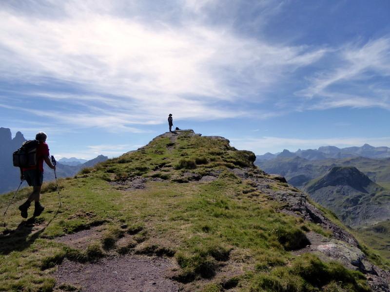 Michèle nous attend au sommet