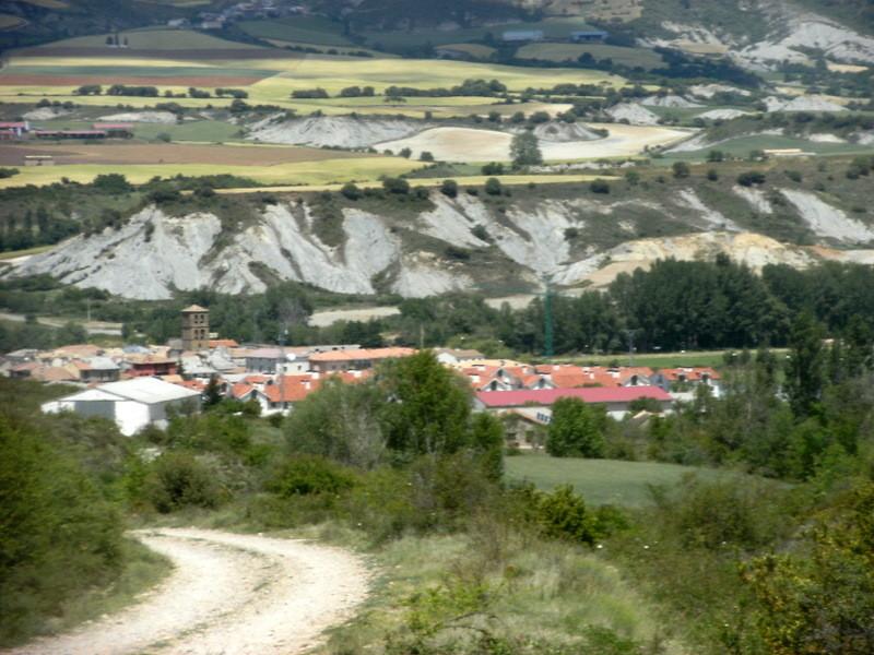 Santa Cilia et terrasses du rio Gallego