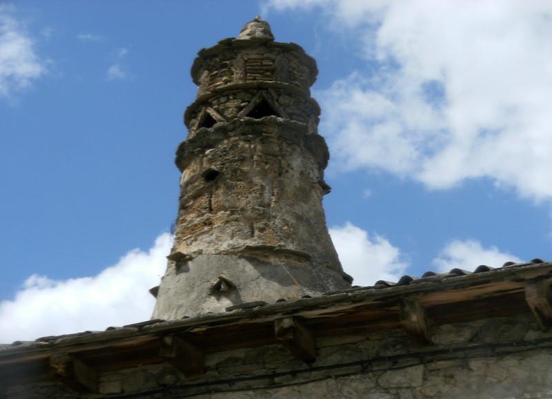 Une authentique cheminée aragonaise