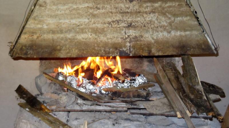 une belle flambée pour réchauffer les crêpes