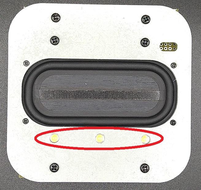 赤丸印が室内灯用LED