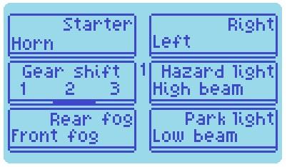 levelスイッチa、b OFF時の操作ボタンの役割