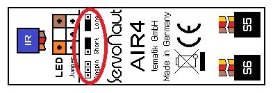 Servonaut AIR4の赤外LED発光強度調整機能