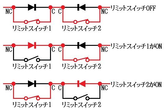 リミットスイッチと流れる電流との関係