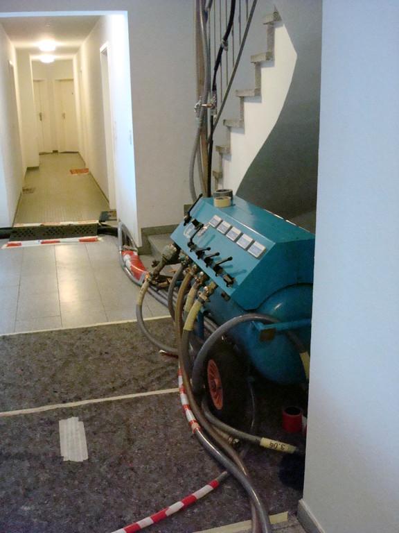 Kompressor für die Trocknung der Leitungen