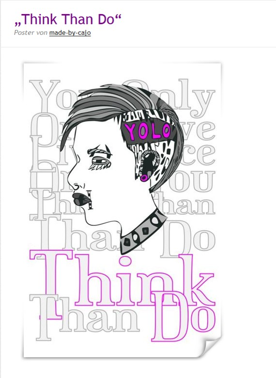 Think than do als Poster