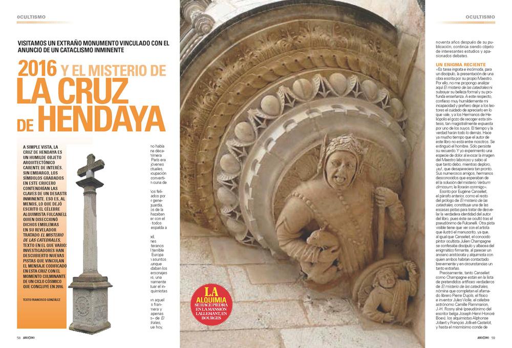 2016 y el Misterio de la Cruz de Hendaya