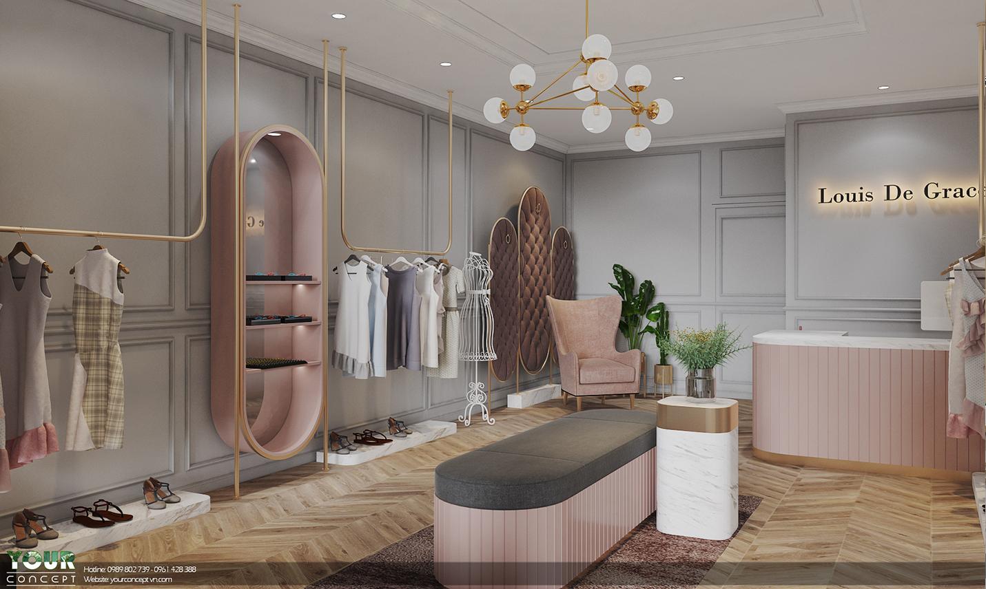 LOUIS DE GRACE - CLOTHING SHOP - 3D CONCEPT