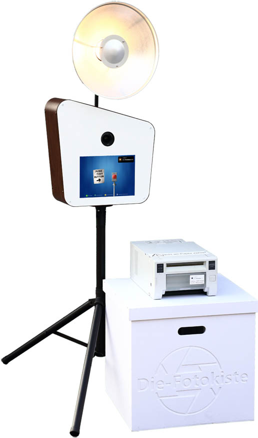 Fotobox augebaut mit Drucker