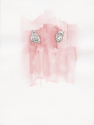 Corneflakes, Aquarell auf Papier, 13,9 x 21,6cm, 2016
