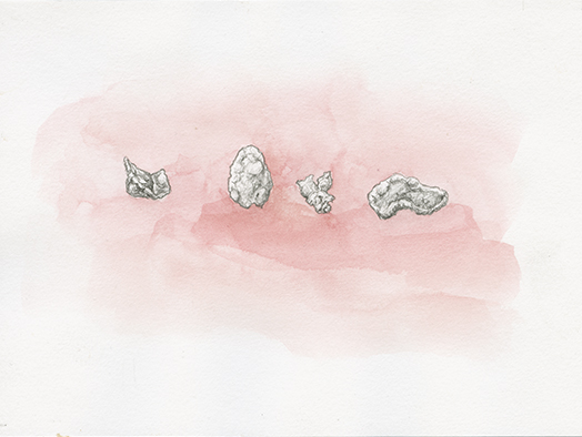 Corneflakes, Aquarell auf Papier, 21,6 x 13,9cm, 2016