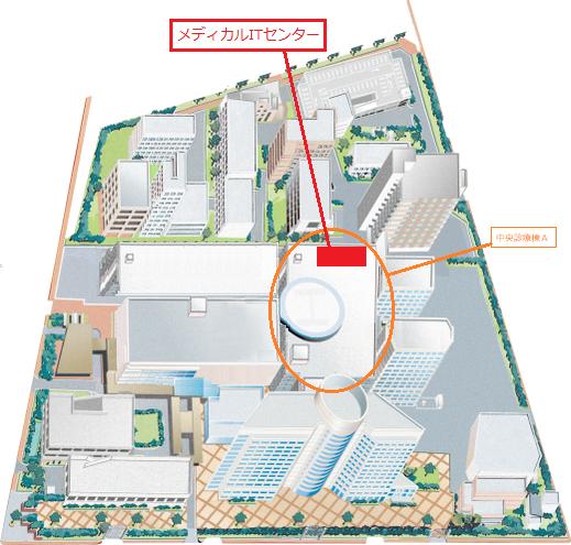 名古屋大学医学部附属病院メディカルITセンターアクセス図
