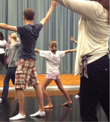 Daughter Ellie with a movement class at the 2012 Orff Schulwerk Teacher Education Course.