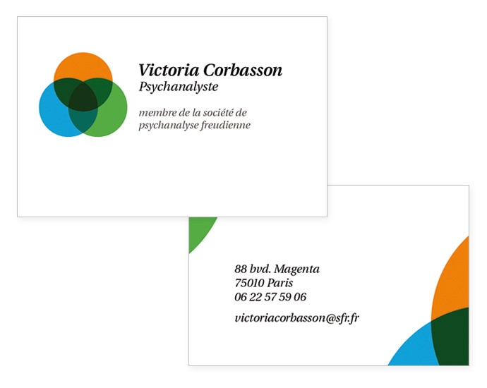 business card, back & front