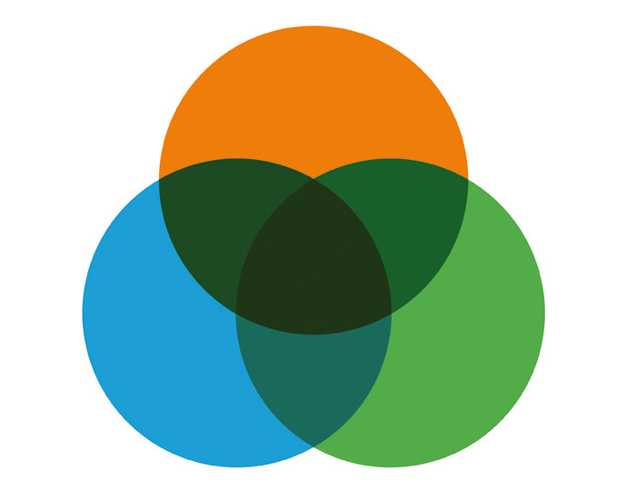 LOGO consisting on 3 circles, symbolizing the inner balance of each person.