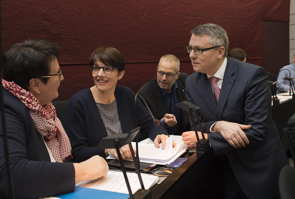 Diskussion mit Ratskollegen