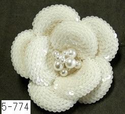 No 5-774  1輪コサージュ 素材:スパンコール サイズ:8cm ¥5.000