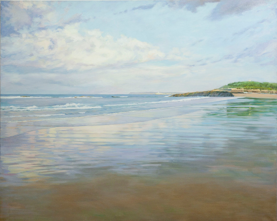 Playa del Sardinero. Santander. Oil on canvas. 162 x 130cm.