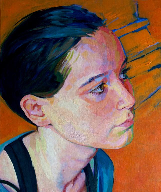Claudia. 65 x 46 cm. Acrylic on canvas.