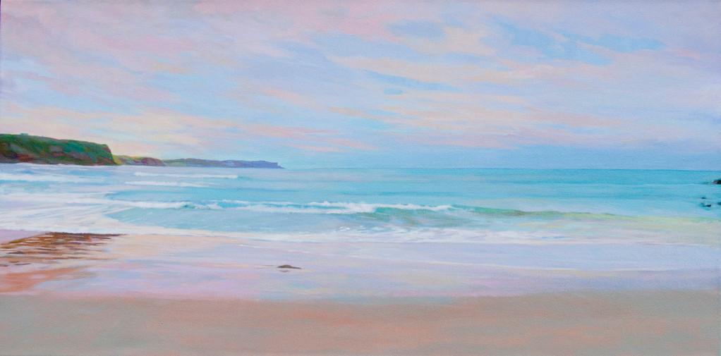 La playa de los Locos. Santander. 100 x 50cm.