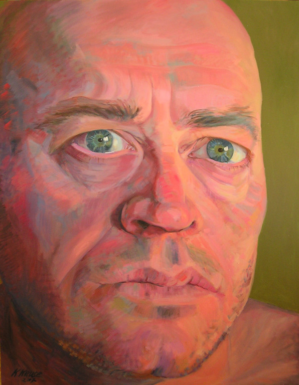 Raul's gaze. 145 x 115 cm. Oil on canvas.